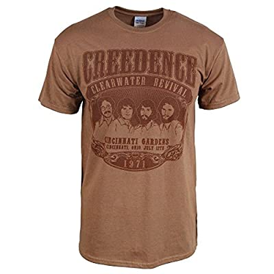 Mens Creedence Clearwater Revival 1971 T-Shirt Brown