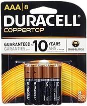 Duracell  Coppertop AAA Alkaline Batteries, 8 Count