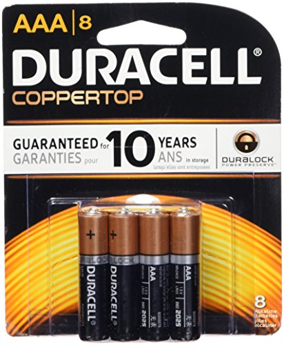 Duracell  Coppertop AAA Alkaline Batteries, 8 Count