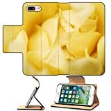 Luxlady Premium Apple iPhone 7 Plus Flip Pu Leather Wallet Case IMAGE ID 1808104 close up of yellow rose
