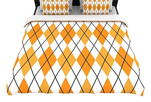 """KESS InHouse KIH106ADW03 Woven Duvet Cover KESS Original """"Argyle - Day"""" King / Cal King Woven Duvet Cover, 104"""" X 88"""",,"""