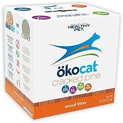 Amazon.com: Ookocat - Arenero de pino natural para gatos, L ...