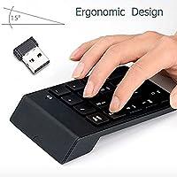 Numeric Keypad,Febite 18 Keys Wireless USB Number Pad Keyboard With 2.4G Mini USB Numeric Receiver for Laptop Desktop PC Notebook - Black