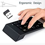 Numeric Keypad,Febite 18 Keys Wireless USB Number Pad Keyboard With 2.4G Mini USB Numeric Receiver for Laptop Desktop PC Notebook - Black