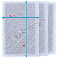 StratosAire Air Cleaner Replacement Filter Pads 14x30 Refills (3 Pack) WHITE