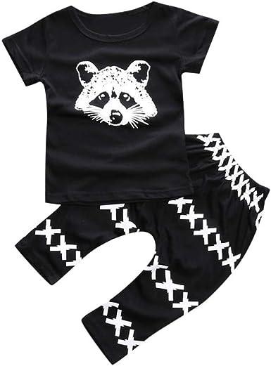 Summer Toddler Baby Kid Boy T Shirts Cartoon Print T Shirts Tops+Pants Outfits L