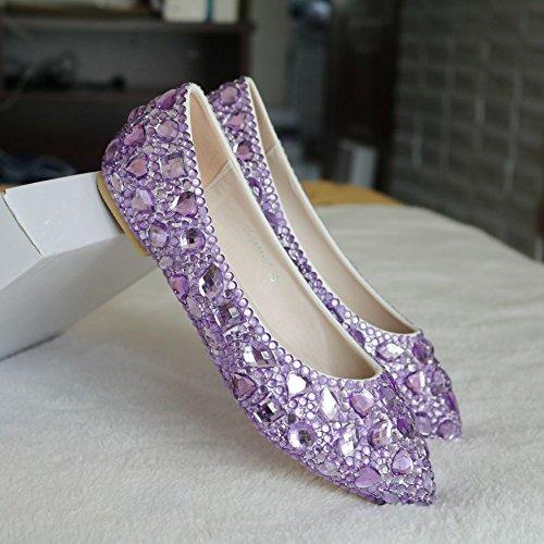 El color del agua de perforación señaló solo zapatos Zapatos Zapatos de Vestir Zapatos de novia purple