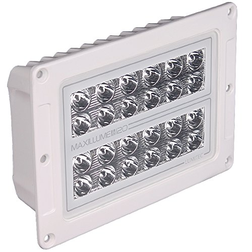 Lumitec Lighting 101348  Maxillume H120 Flush Mount Housing Light, White - Floodlight Trunnion Mount