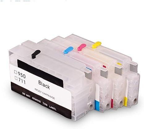 Teng® - 4 Cartuchos de Impresora vacíos Recargables para Coche ...