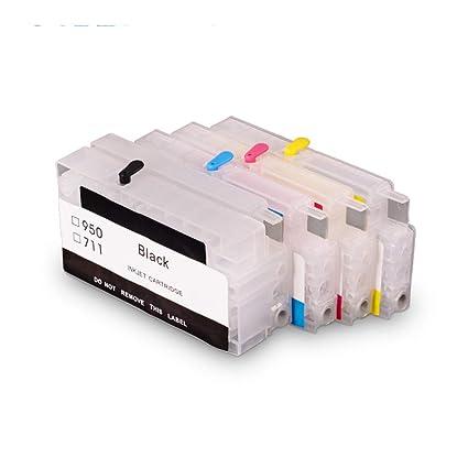 Teng® - 4 Cartuchos de Impresora vacíos Recargables para ...