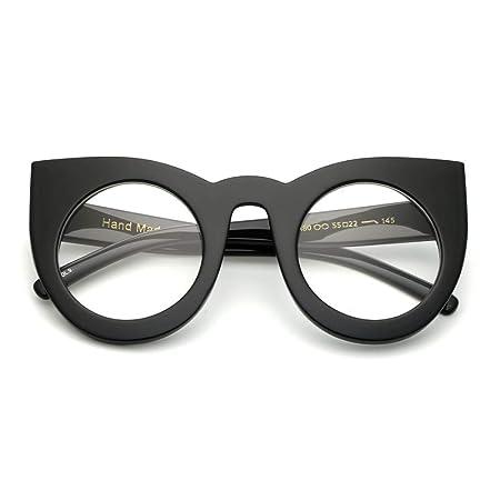 YMTP Eye Glasses Frames For Women Cat Eye Black Clear Big Round ...