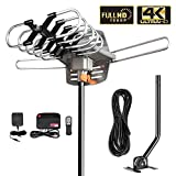 HDTV Antenna Amplified Digital Outdoor Antenna with Mounting Pole-150 Miles Range-360 Degree Rotation
