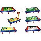 Blitzzauber24 Table Multi-Jeux 4 en 1 Baby-Foot Tennis de Table ... 82c99e243a3c
