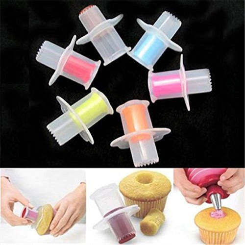 Funnytoday365 Perfect Cupcake Muffin Cake Corer Plunger Cutter Pastry Decorating Divider Model