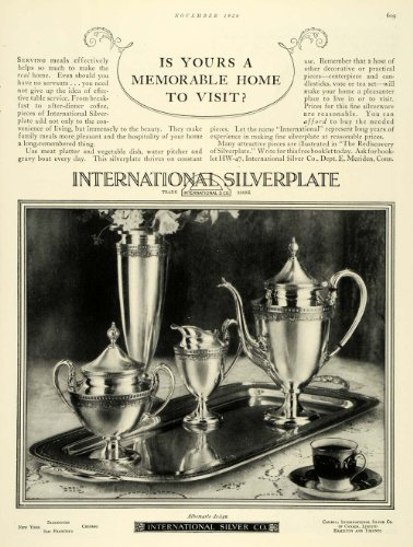 1926 Ad International Silverplate Set Home Decorative - Original Print (International Vintage Silverplate)