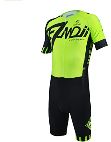 EMONDER Men s Triathlon Short Sleeve Tri Suit Breathable Quick Dry Team  Skinsuit Bike Swim Run d172e7a97