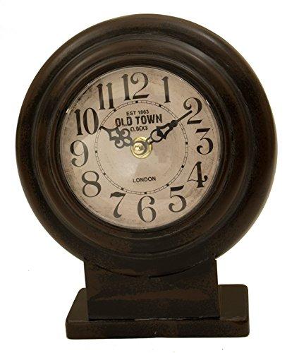 ArtFuzz Black Round Table Clock 7.75X2.25X6.75