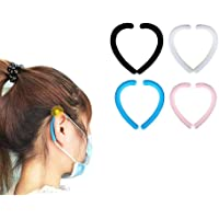Ear Strap Silicone Ear Silicone Earloop Ear Hook Protectors 3 Pairs per Pack (Black)
