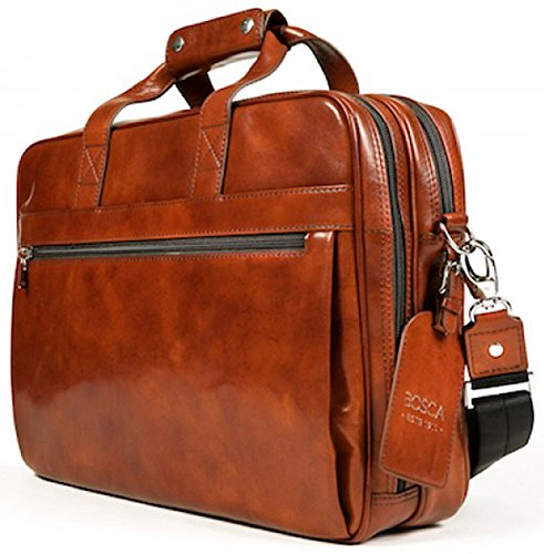 Bosca Old Leather Stringer Bag Amber by Bosca