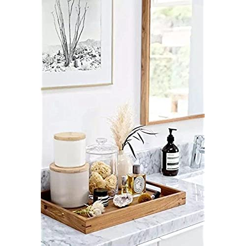 Purzest Wood Breakfast Coffee Table Tray, Office Desktop File, Mail,  Document Holder