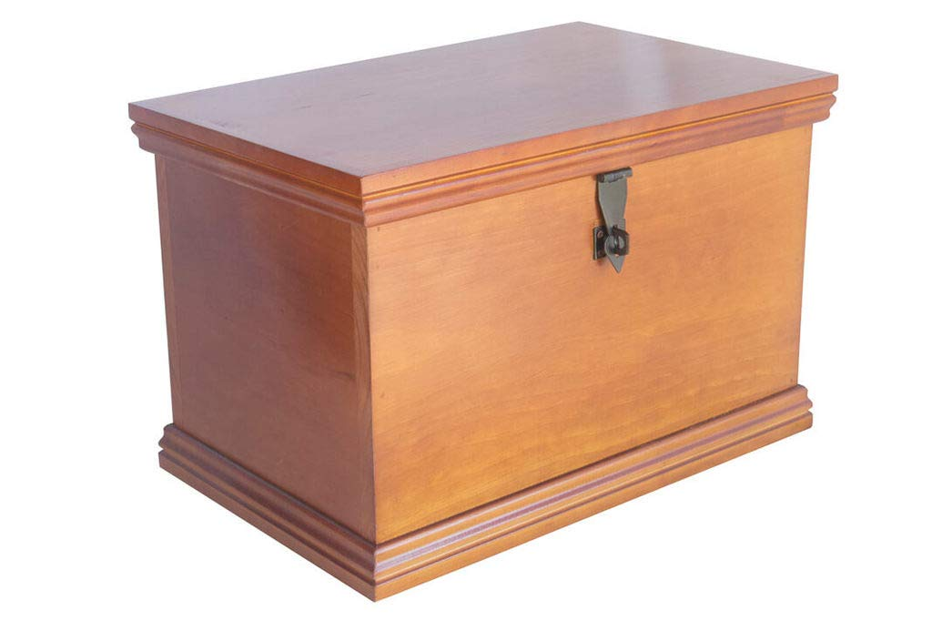 Fabian Woodworks Memory Box - Wooden - Lockable -Aqua on Dark - Store Keepsakes, Mementos and Photos