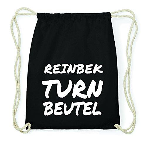 JOllify REINBEK Hipster Turnbeutel Tasche Rucksack aus Baumwolle - Farbe: schwarz Design: Turnbeutel 6TkUyjyEyn
