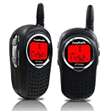 Walkie Talkies for Kids, 22 Channel FRS/GMRS Walkie Talkie 2 Way Radio 3 Miles UHF Walkie Talkies (1 Pair) Black