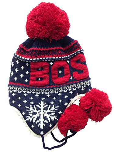 Robin Ruth Boston Kids Winter Hats (Navy/Boston red/Snowman)