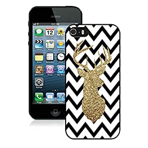 New Design Chevron Iphone 5S Protective Cover Case Christmas Deer iPhone 5 5S TPU Case 4 Black