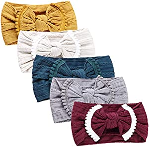Giveaway: Nylon Newborn Headbands Baby Girl Bow Headband Infant Bows…