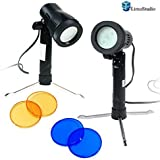 LimoStudio Photography Continuous 600 Lumen LED Light Set for Table Top Studio Portable Lighting Kit with Gel Filters, AGG1501