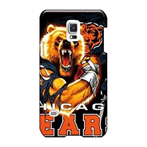 Anti-Scratch Hard Cell-phone Cases For Samsung Galaxy S5 Mini (WZw16301GECX) Allow Personal Design High-definition Chicago Bears Skin