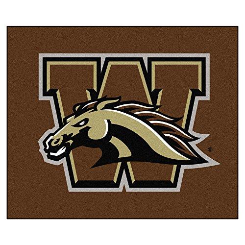 FANMATS NCAA Western Michigan University Broncos Nylon Face Tailgater Rug (Michigan Western Rug Tailgater)