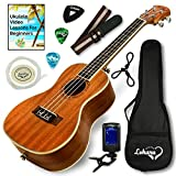 Ukulele Concert Size Bundle From Lohanu (LU-C) 2 Strap Pins Installed FREE Uke Strap Case Tuner Picks Hanger Aquila Strings Installed Free Video Lessons BEST UKULELE BUNDLE DEAL Purchase Today!: more info