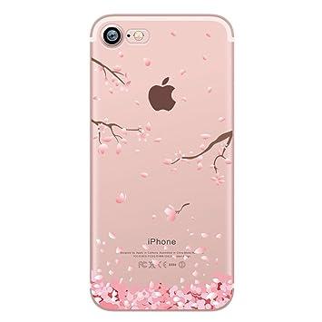 coque iphone 7 silicone fleur