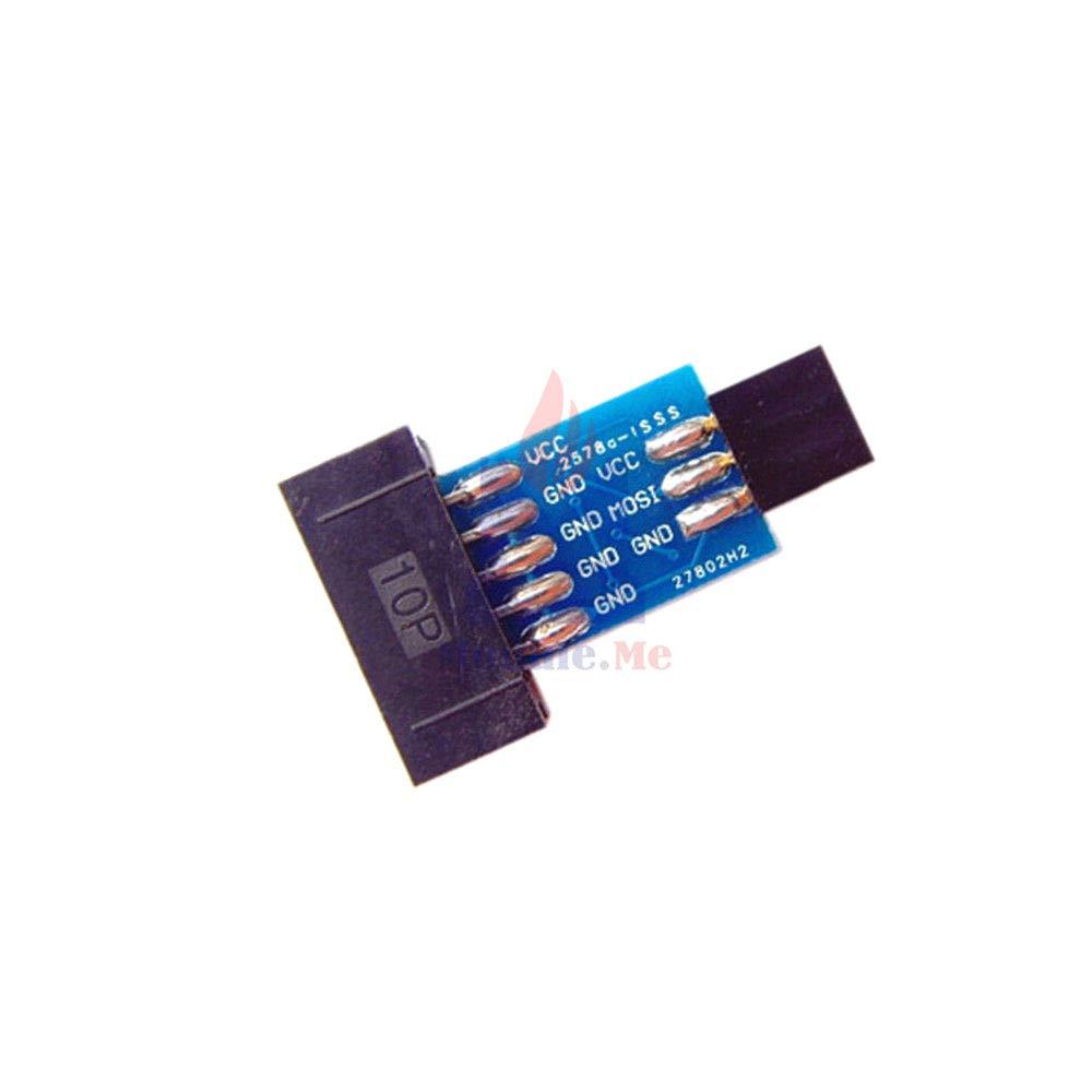 1PCS 10 Pin Convert to Standard 6 Pin Adapter Board ATMEL AVRISP USBASP STK500