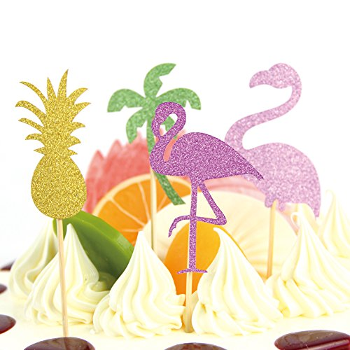 8pcs-Flamingo-Pineapple-Coconut-Tree-Glitter-Cake-Topper-for-Tropical-Summer-Luau-Party-Hawaii-Theme-Decoration-SUNBEAUTY