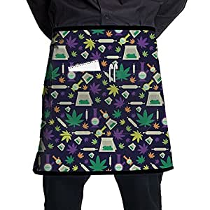 Cannabis Chemstry Fashion Waist Aprons Bartender Apron Waitress