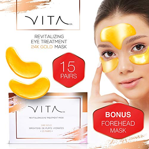24K Gold Natural Under Eye Patches