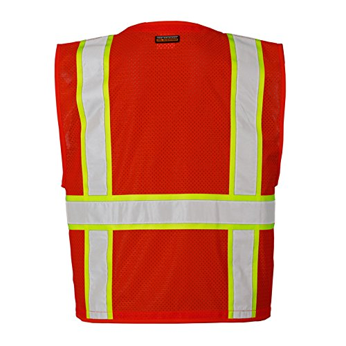 ML Kishigo Red Enhanced Visibility Multi Pocket Mesh Vest (2X-3X)