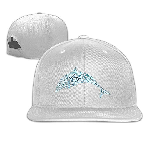 Raglan Dolphins (Ruijoantrista Beach Dolphin Men Women Spring Summer Pure Cotton Damask Raglan Baseball Cap Beanie Hats)