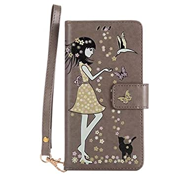 SRY-Caso sencillo Para Huawei Nova Plus Breath Light Carteras Tarjeta Pack, Pretty Girl