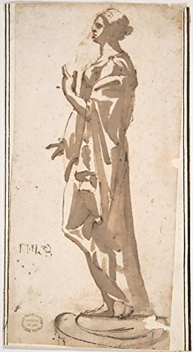 Statue of a Draped Female Figure Poster Print by Anonymous Italian 17th century (18 x 24)