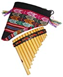 Easy to Play Beginner Peru Treasure Small Peruvian Tunable Antara Pan Flute 13 Pipes Case Included