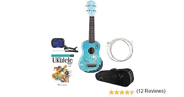 Luna Aurora – Ukelele soprano Ukelele de azul, sintonizador de ...