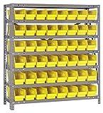 Quantum Storage Systems 1839-103YL Shelf and Bin Unit, 18'' D x 36'' W x 39'' H, Yellow