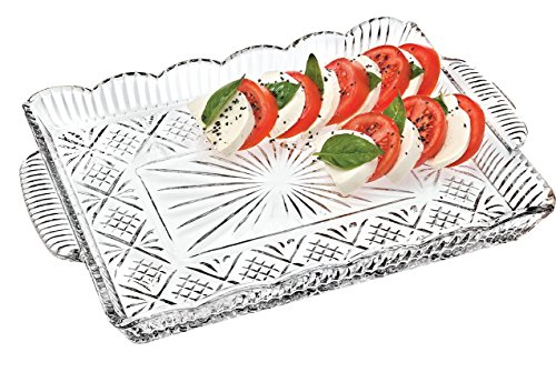 Crystal Serving Platters - Crystal Rectangular Elegant Serving Tray