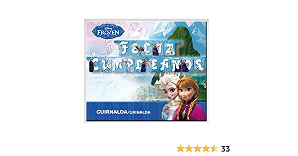 Frozen - Guirnalda feliz cumpleaños (Verbetena 014001262): Amazon.es: Juguetes y juegos