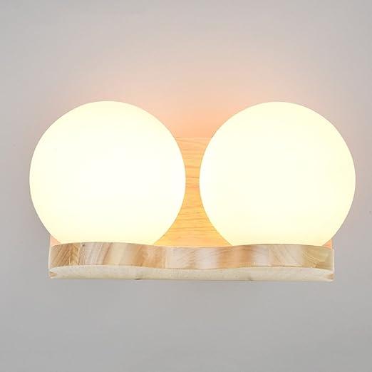 Neilyn Plafoniere da comodino moderne E27 Lampada da parete in legno ...