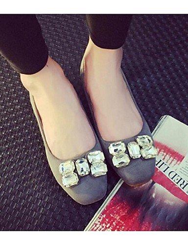fuchsia rojo talón us5 5 negro Toe 5 zapatos de Casual PDX de cerrado plano gris mujer Flats cn35 eu36 uk3 wgOp4q